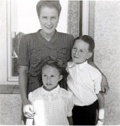 with mother and brother Peter
